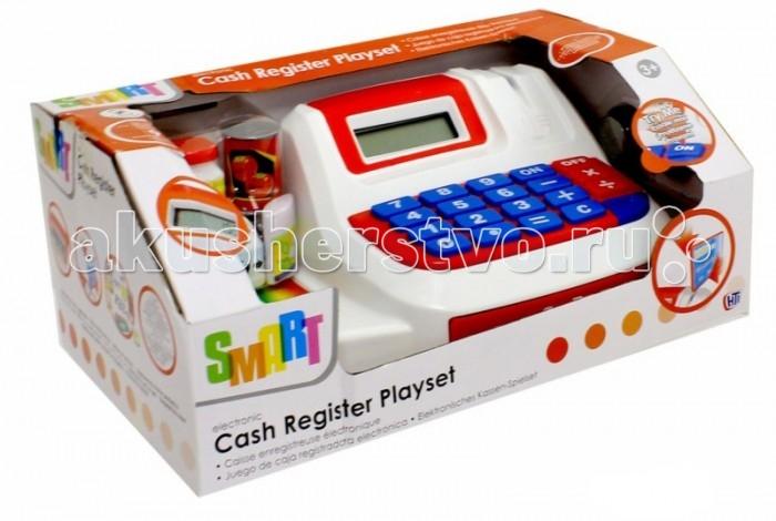 HTI Большая электронная Касса SmartБольшая электронная Касса SmartИгровой набор HTI Большая электронная касса Smart со звуковыми эффектами позволит малышу напрямую соприкоснуться с миром торгово-потребительских отношений.   С помощью этого набора ваш ребенок сможет научиться правильно вести себя в магазине и делать покупки. Порадуйте его таким замечательным подарком!  Особенности:   Размеры: 12 x 28 x 17 см Вес: 558 г<br>