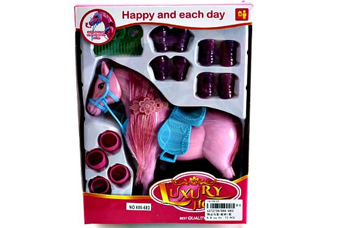 Игровые фигурки Veld CO Лошадь с аксессуарами в коробке 39954 подарочная упаковка veld co бант шар 10 шт в наборе