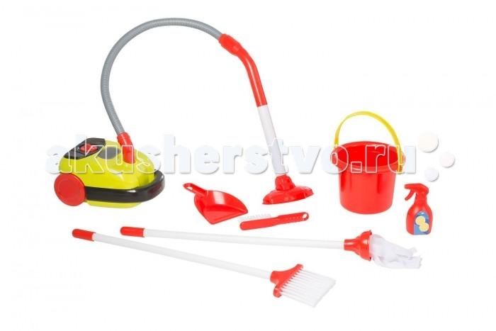 HTI Набор Тележка для уборки с пылесосом SmartНабор Тележка для уборки с пылесосом SmartНабор тележка для уборки с пылесосом Smart. В комплект входит пылесос с реалистичными звуковыми эффектами и прыгающими шариками, работающий от батареек, совочек и щёточка. Необходимы батарейки: 2xAA (в комплект не входят). Для детей от 3-х лет.  Особенности:   Размеры: 45 x 41,8 x 14,7 см Вес: 2,07 кг<br>