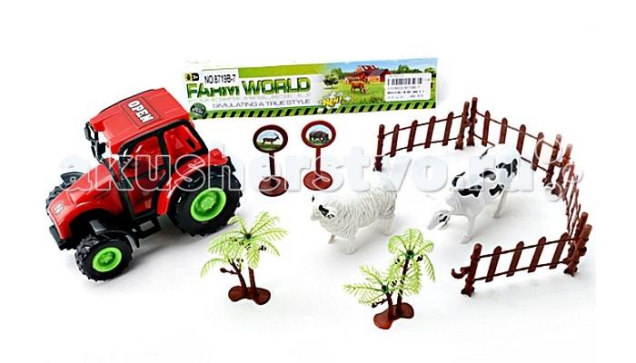 Машины Veld CO Трактор инертный с аксессуарами подарочная упаковка veld co бант шар 10 шт в наборе