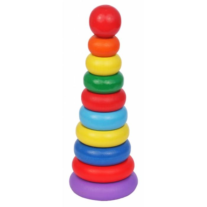 Деревянные игрушки Краснокамская игрушка Пирамидка Кольцевая Новая
