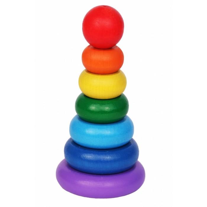 Деревянные игрушки Краснокамская игрушка Пирамидка Семицветик краснокамская игрушка развивающая пирамидка семицветик