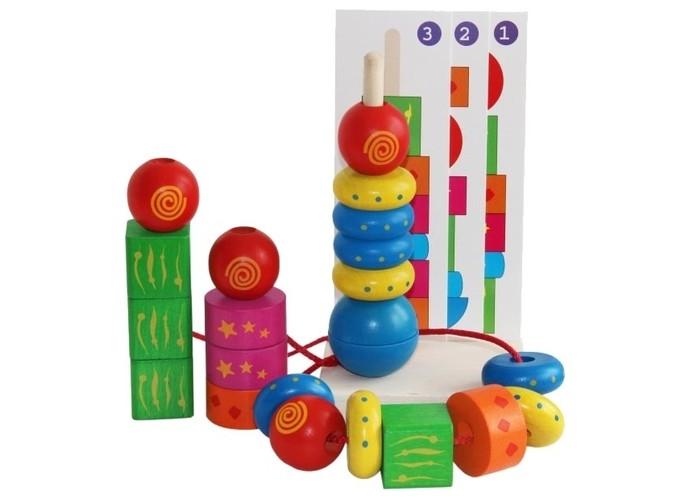 Деревянные игрушки Краснокамская игрушка Пирамидка Геометрическая фантазия