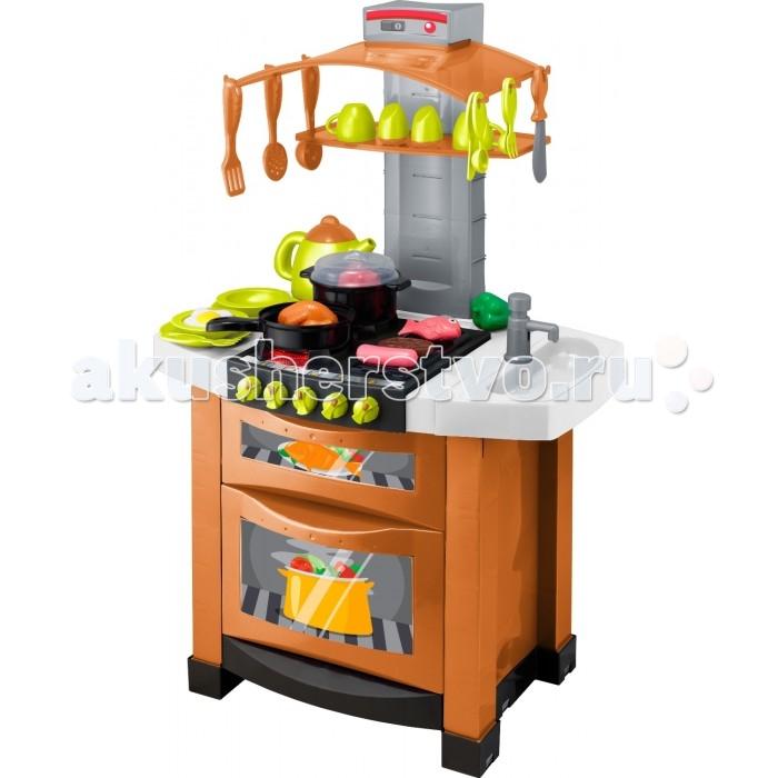 HTI Модная электронная кухня SmartМодная электронная кухня SmartМодная электронная кухня Smart. Открывающиеся дверцы плиты, раковина с настоящей водой, реалистичные звуковые и световые эффекты. В комплекте кастрюлька, сковородка, чайничек, столовые приборы, посудка, продукты.  В комплекте:  Кастрюлька; Сковородка; Чайничек; Столовые приборы; Посудка; Продукты.  Особенности:   Размеры: 42 x 56 x 27 см Вес: 4,1 кг<br>