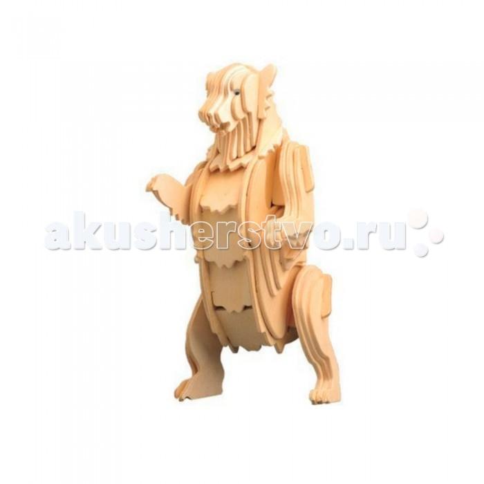 деревянные конструкторы Конструкторы Education Line 3D Деревянные Пазлы Животные Медвежонок Гризли