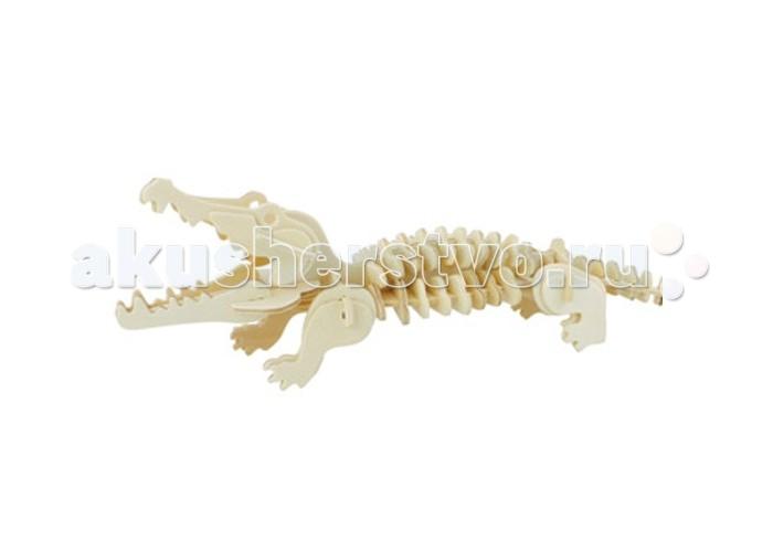 Конструкторы Education Line 3D Деревянные Пазлы Животные Крокодил пазлы русский стиль макси пазлы африканские животные
