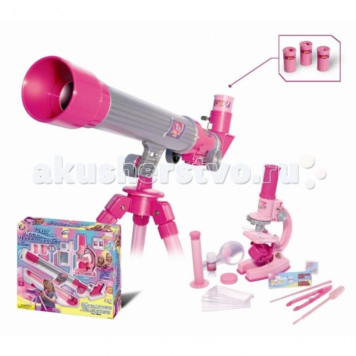 Наборы для творчества Eastcolight Набор для исследований Микроскоп и телескоп 35 предметов eastcolight мр 900 микроскоп с панорамной насадкой
