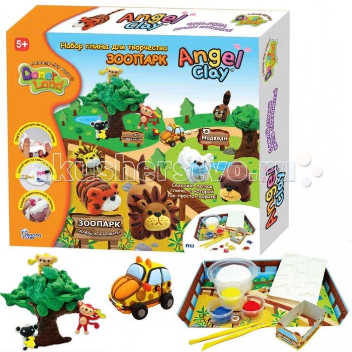 Всё для лепки Angel Clay Игровой набор массы для лепки Зоопарк на русском языке набор для лепки donerland angel clay funny safari aa14021