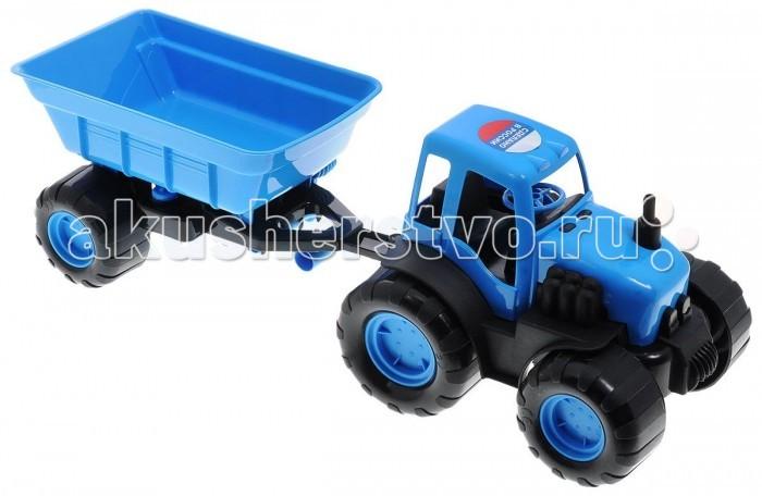 Машины Veld CO Трактор с прицепом в коробке 47069 подарочная упаковка veld co бант шар 10 шт в наборе