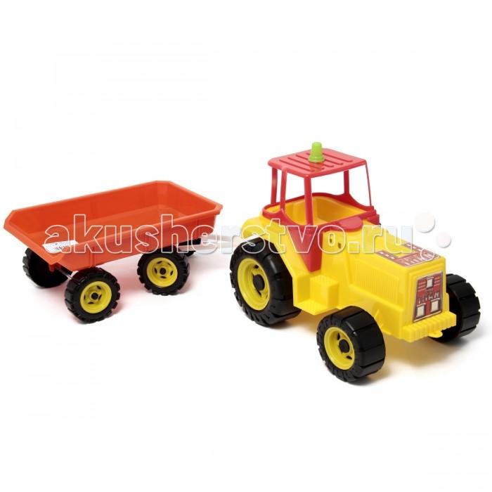 Машины Veld CO Трактор Титан-TEREX с тележкой 47129 бомик мягкий конструктор трактор с тележкой