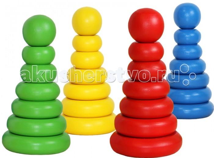 Деревянные игрушки Краснокамская игрушка Пирамидка Одноцветная деревянные игрушки краснокамская игрушка пирамидка кольцевая новая