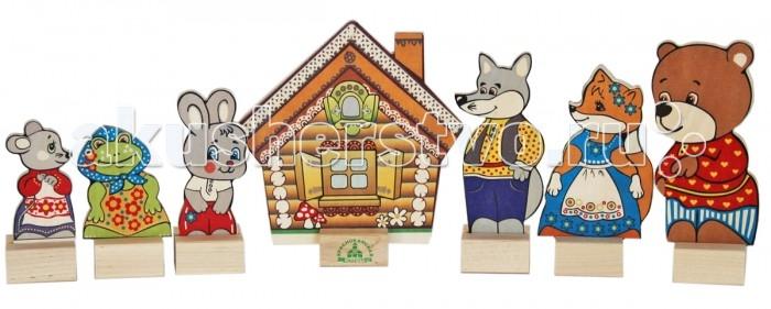 Деревянные игрушки Краснокамская игрушка Набор Персонажи сказки Теремок деревянная коробка рассказы и сказки