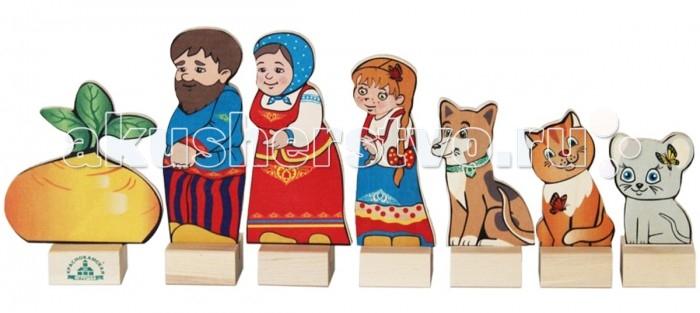 Деревянные игрушки Краснокамская игрушка Набор Персонажи сказки Репка деревянная коробка сказки дерева игрушка репка