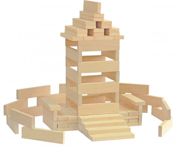 Купить Деревянные игрушки, Деревянная игрушка Краснокамская игрушка Брусочки строительные 122 детали