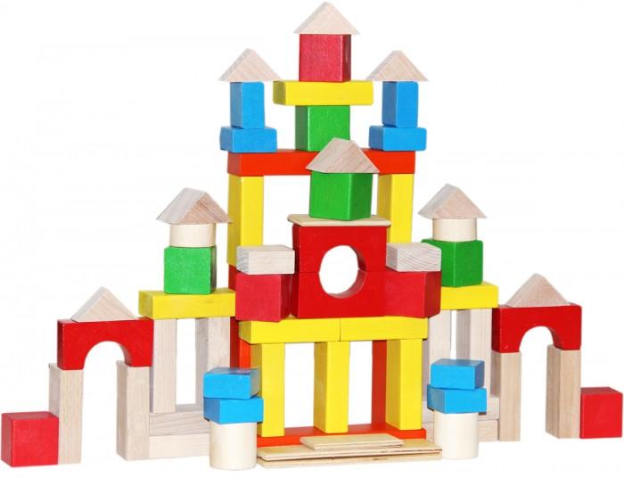 Деревянные игрушки Краснокамская игрушка Строим сами окрашенный 66 деталей
