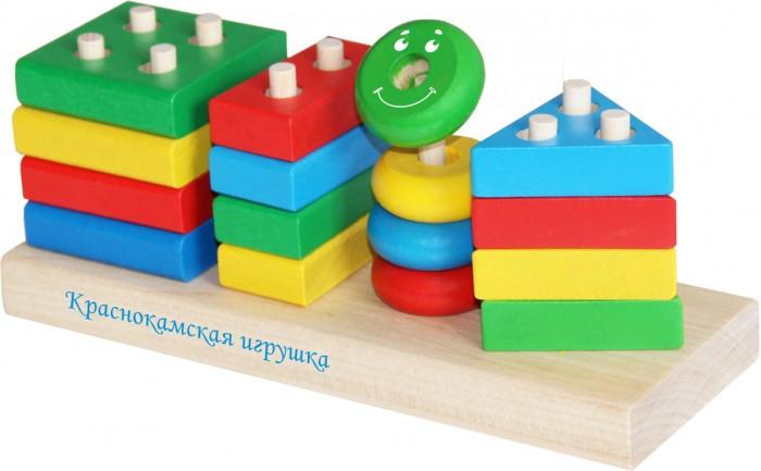 Купить Деревянные игрушки, Деревянная игрушка Краснокамская игрушка Набор Геометрик