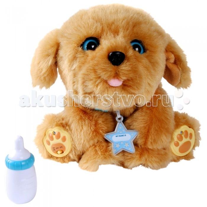 Интерактивная игрушка Little live Pets Щенок моей мечтыЩенок моей мечтыИнтерактивная игрушка Moose Щенок моей мечты - этот чудо-пес - настоящее сокровище!   Особенности: Игрушка выглядит очень похожей на настоящую собачку, отличается красивым цветом шерстки, которая очень мягкая и приятная на ощупь. Кроме того, у песика забавное выражение мордочки, добрые голубые глазки. А сколько всего этот питомец умеет! Щенок моей мечты очень любит, когда его гладят по голове. В такие моменты он начинает ею двигать, довольно жмурится, тявкает и даже поскуливает от счастья, словно желая, чтобы поглаживания продолжились! А если во время игры нажать на носик щенка, то он зафыркает, как будто ему щекотно, а затем оближет своего хозяина. Когда настанет время покормить интерактивную собаку, на помощь придет специальная бутылочка, которая входит в комплект. Именно из нее можно будет подать щенку угощение, а тот его радостно съест, издавая при этом соответствующие реалистичные звуки. Если посадить щенка и оставить его одного, то вскоре он начнет звать своего хозяина, скучая по нему. А если расставание затянется, то песик начнет засыпать. В этот момент глазки его закроются и он станет дышать, как настоящая собака! Интерактивная игрушка Щенок моей мечты станет частым и любимым героем множества сюжетов и историй ребенка, а все его способности и особенности смогут сделать любую игру интересной и запоминающейся!<br>