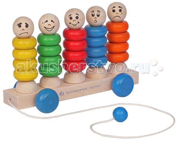 Деревянные игрушки Краснокамская игрушка Каталка Квинтет краснокамская игрушка каталка квинтет