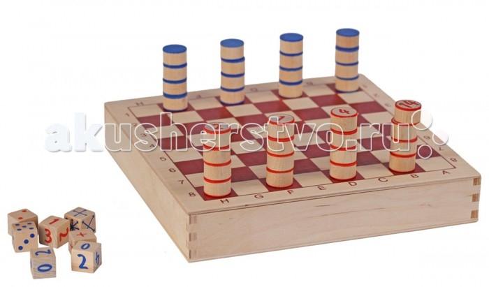 Краснокамская игрушка Олимпийские шашки 6 уровней сложностиОлимпийские шашки 6 уровней сложностиИнтереснейшая и необычная настольная игра для детей. Даже если ребенок никогда не играл в шашки, он быстро освоит эту науку и в дальнейшем сможет обыгрывать взрослых подготовленных игроков.  Это настоящий тренажер, который легко и увлекательно научит ребенка основным математическим вычислениям. Особенно полезна игра для младших школьников, ведь «Олимпийские шашки» помогут им избавиться от трудностей и проблем в устном счете.   Внутри коробки игровое поле и деревянные фишки с цифрами от 1 до 16 двух цветов – красного и синего, 7 игровых кубика и книжечка с правилами.  Правила «Олимпийских шашек» просты. Два игрока расставляют свои фишки каждый на своем поле, бросают по очереди кубики и делают ходы, согласно выпавшим цифрам на кубиках – сколько выпало точек, столько шашек можно использовать при ходе. Кубик со стрелками указывает направление движений фишек.   Благодаря этой увлекательной игре дети учатся быстро считать, развивают внимание, логику, интуицию, интеллект, усидчивость и изобретательность.  В «Олимпийских шашках» 6 уровней сложности. Поэтому пройдя один этап, ребенок может перейти к более трудному, и так постепенно достичь высот в вычислениях. Обучение математике в игре – это увлекательно и интересно.   Каждый элемент выполнен из качественного и тщательно обработанного дерева. В изготовлении используются бук, береза, липа, безопасные для детей акриловые краски.<br>
