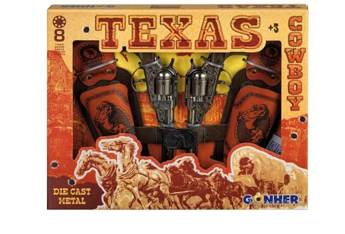 Игрушечное оружие Gonher Игрушечное оружие Техасский Ковбой на 8 пистонов