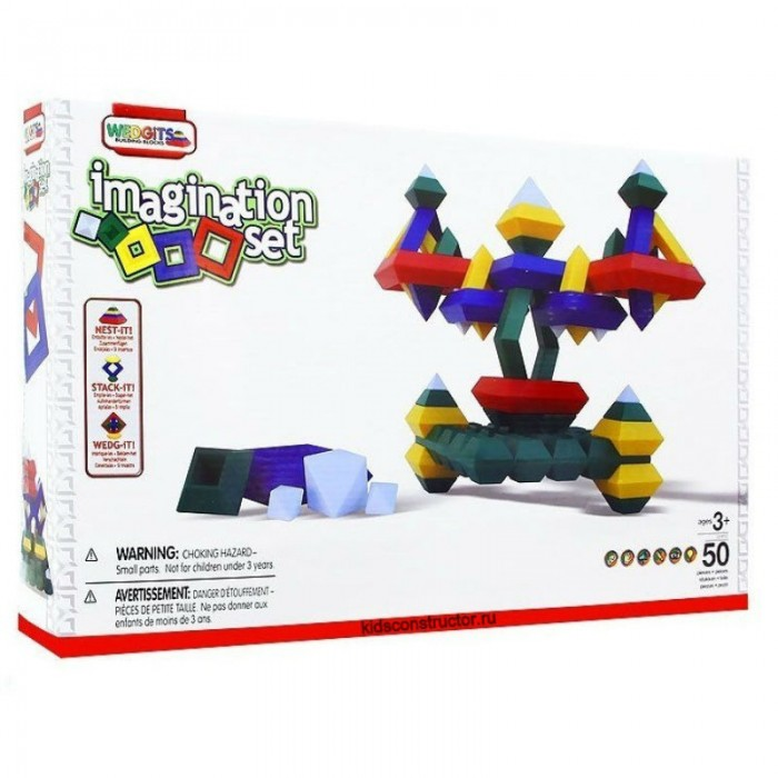 Конструктор Wedgits Imagination Set 50 деталей
