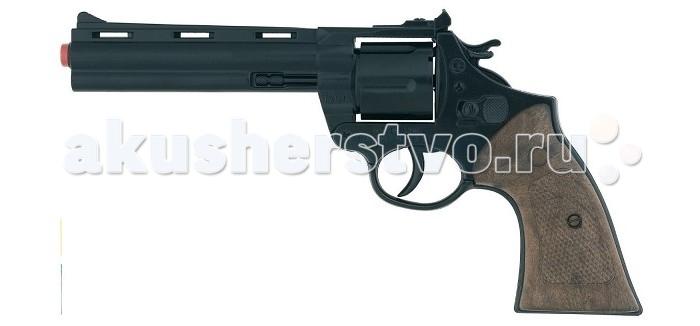 Игрушечное оружие Gonher Игрушечное оружие Револьвер Police на 12 пистонов черный сигнальный револьвер блеф наган