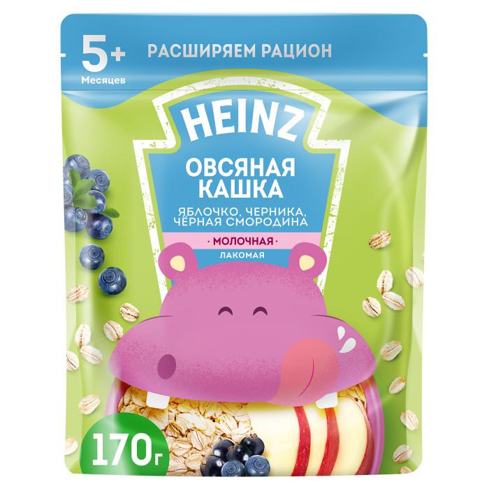 Каши Heinz Молочная Лакомая овсяная каша яблоко,черника,черная смородина с 5 мес. 200 г heinz молочная с персиком