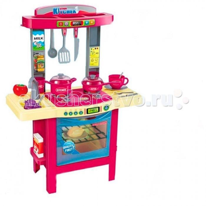 Ami&amp;Co (AmiCo) Набор кухня ПоваренокНабор кухня ПоваренокAmi&Co Набор кухня Поваренок изготовлен из высококачественного пластика.  Особенности: С этим прекрасным набором ваш малыш почувствует себя настоящим поваром! А разнообразные аксессуары сделают игру еще веселее.  Есть свет в духовке, звук при включении плиты, звук приготовления. В набор входят 34 предмета: кастрюля, сковорода, столовые и кухонные приборы, игрушечные продукты.  Размер кухни: 77х30х67 см.<br>