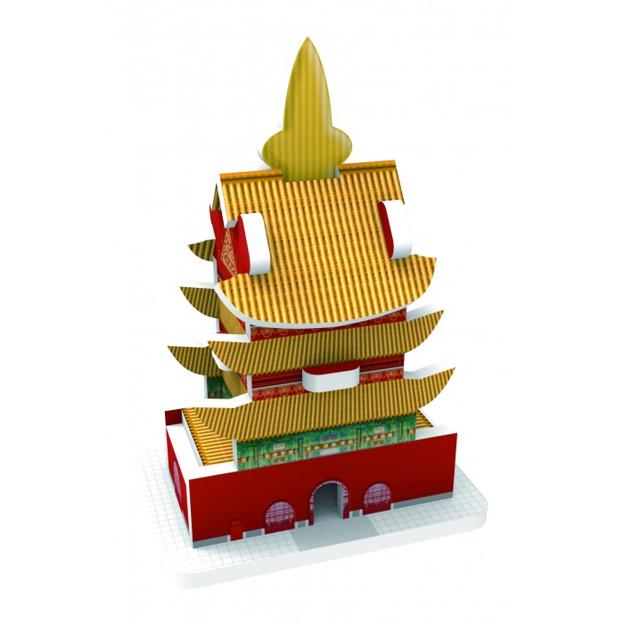 Пазлы IQ 3D пазл Восточный стиль Храм пазлы iq 3d пазл пизанская башня