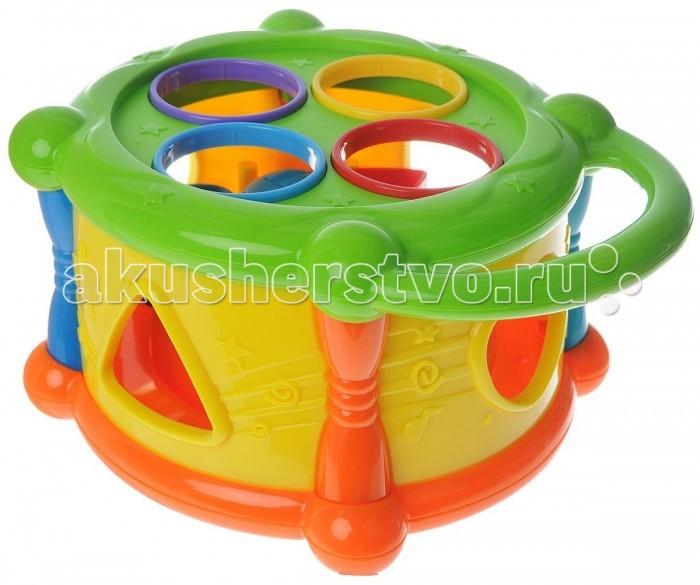 Развивающие игрушки ABtoys Барабан с фигурками игрушка для животных каскад барабан с колокольчиком 4 х 4 х 4 см