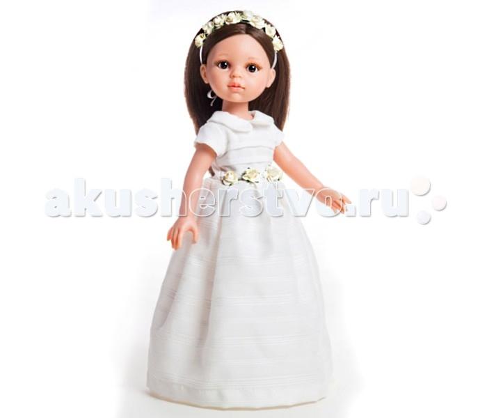 Paola Reina Кукла Кэрол 32 смКукла Кэрол 32 смКукла Paola Reina Кэрол 32 см   Особенности:   уникальный дизайн лица, ручная работа при изготовлении ресниц, веснушек, щечек, губ, прически;   детали лица тщательно проработаны;   «ямочки» на коленках;   на пальчики рук можно одевать колечки;   руки, голова и ноги - подвижны;   глаза куклы не закрываются;   имеет нежный ванильный аромат (гипоаллергенна)    Качество подтверждено нормами безопасности EN17 ЕЭС.   Материалы: кукла изготовлена из винила, глаза выполнены из прозрачного твердого пластика, волосы сделаны из высококачественного нейлона.   Высота: 32 см<br>