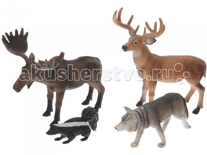 Mojo Набор игровых фигурок Animal Planet средний 4 шт. Лесные животные 1