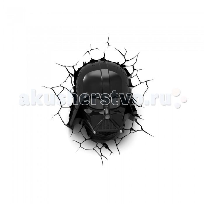 Светильник 3DlightFX Пробивной 3D StarWars (Звёздные Войны) Маска Darth Vader (Дарт Вейдер)Пробивной 3D StarWars (Звёздные Войны) Маска Darth Vader (Дарт Вейдер)Пробивной 3D светильник StarWars (Звёздные Войны) Маска Darth Vader (Дарт Вейдер). Безопасный: без проводов, работает от батареек (3хАА, не входят в комплект); Не нагревается: всегда можно дотронуться до изделия; Реалистичный:3D наклейка-имитация трещины в комплекте; Фантастический: выглядит превосходно в любое время суток; Удобный: простая установка (автоматическое выключение через полчаса непрерывной работы). Товар предназначен для детей старше 3 лет. ВНИМАНИЕ! Содержит мелкие детали, использовать под непосредственным наблюдением взрослых.   Особенности:   Размеры: 27.9 х 33.4 х 13.3 см Вес: 0,92 кг<br>