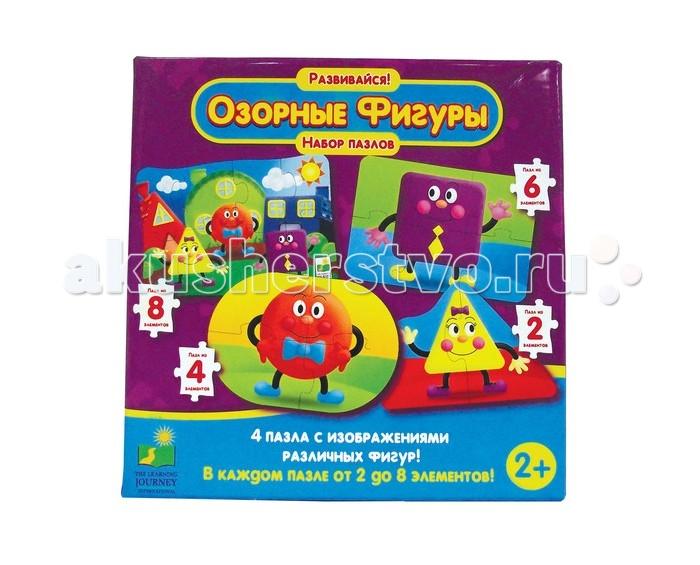 Пазлы Learning Journey Набор пазлов Озорные фигуры learning journey развивающая игрушка веселый слоник