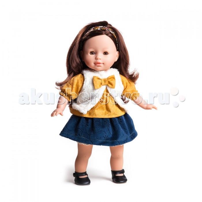 Paola Reina Кукла Вирджи 36 смКукла Вирджи 36 смКукла Paola Reina Вирджи с мягконабивным телом   Особенности:   Уникальный и неповторимый дизайн лица и тела.  Глазки закрываются.  Наряд игрушки и аксессуары можно при необходимости постирать, и они останутся такими же яркими и привлекательными.  Тело куклы выполнено из приятного на ощупь высококачественного винила, который имеет лёгкий аромат ванили.  Материалы, из которых изготовлена игрушка, прошли все необходимые сертификации и проверки на безопасность для детей. Качество подтверждено нормами безопасности EN71 ЕЭС.    Paola Reina имеет в своем ассортименте кукол всех национальностей, что помогло завоевать не только любовь детей, но и коллекционеров.   Высота: 36 см<br>