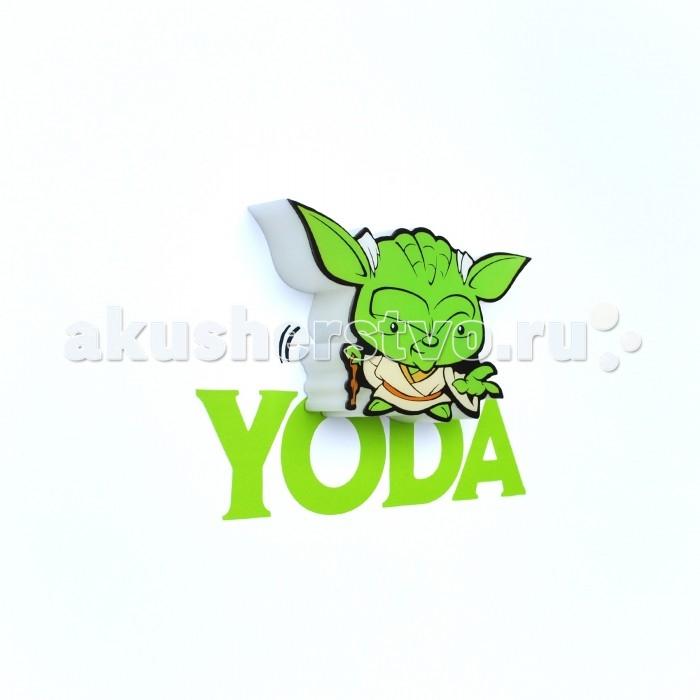 Детская мебель , Светильники 3DlightFX Пробивной мини 3D StarWars (Звёздные Войны) Yoda (Йода) арт: 239023 -  Светильники