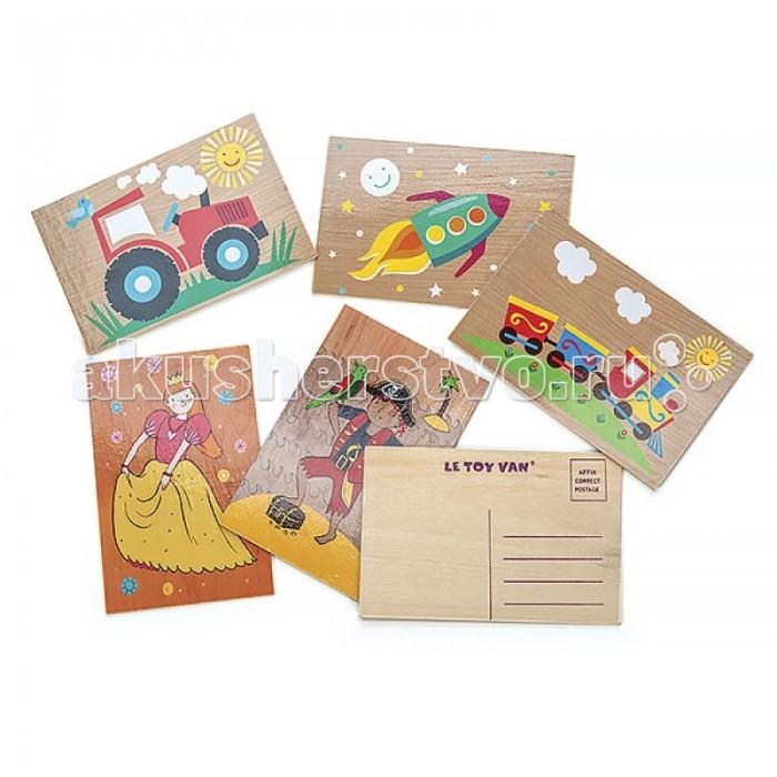 Деревянные игрушки LeToyVan Набор деревянных открыток 6 шт. деревянные игрушки letoyvan игровой набор кролик и морковка
