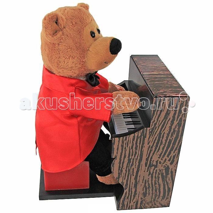 Мягкая игрушка Ваш подарок Поющий Медвежонок Пианист