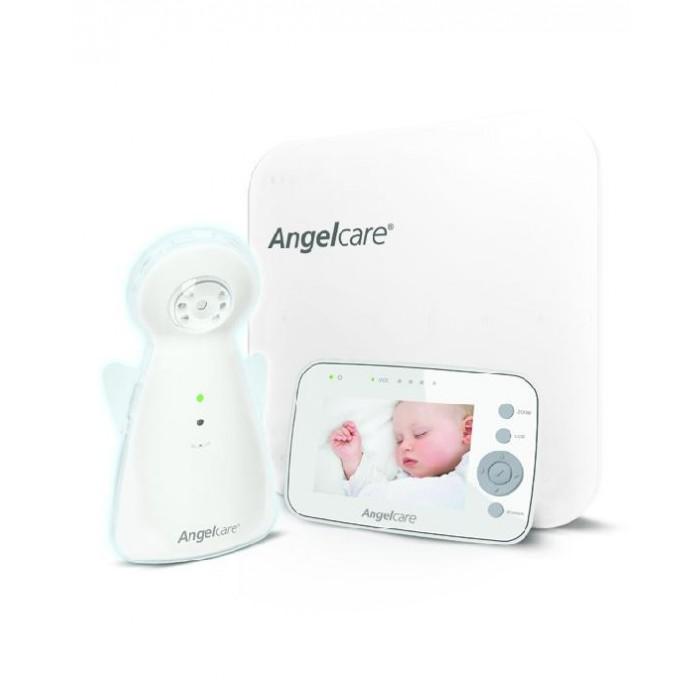 Angelcare Монитор движения, видеоняня c 3,5 LCD дисплеемМонитор движения, видеоняня c 3,5 LCD дисплеемAngelcare Монитор движения, видеоняня c 3,5 LCD дисплеем  Особенности: Подматрасный датчик Sensor Pad  aиксирует каждое движение и дыхание ребенка и передает звуковой сигнал, если в течение 20 секунд движения отсутствуют. Датчик безопасен для малыша, его действие сравнимо с работой пальчиковых батареек. Цветная передача видео в высоком качестве. Следите за вашим малышом с помощью функции видеопередачи изображения высокой четкости на родительском блоке.  Дневной и ночной режимы (инфракрасная камера).  ЖК сенсорный экран с интуитивно понятным пользовательским интерфейсом. Имеется возможность изменения яркости дисплея. Контроль температуры в детской комнате.  Цифровая технология передачи данных с перестройкой частоты, ваша видеоняня фиксирует сигналы именно в Вашей детской комнате, а не комнате соседей!  Цифровая технология передачи данных видеоняни Angelcare AC1300 минимизирует помехи и обеспечивает приватность общения между детским и родительским блоками. Переносной и заряжаемый родительский блок. Ночник-ангелочек смягким  свечением.  Индикатор низкого заряда батареи. Индикатор потери связи предупредит Вас, если родительский блок находится слишком далеко от детского блока. Индикатор звука.  Цифровой зум  позволяет увеличить изображение ребенка на экране. Радиус действия до 250 метров<br>