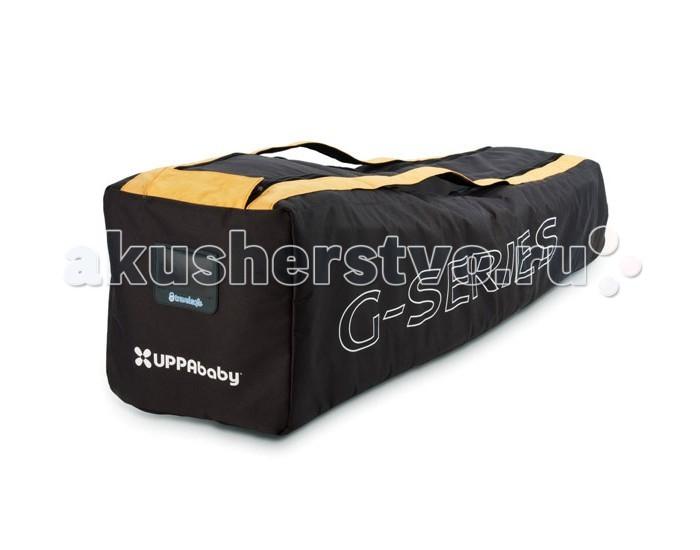 UPPAbaby Сумка-переноска для коляски-трости G-luxeСумка-переноска для коляски-трости G-luxeUPPAbaby Сумка-переноска для коляски-трости G-luxe позволит вам с комфортом путешествовать не беспокоясь о безопасности вашей коляски.  Размеры сумки (дхшхв): 112х32х30 см<br>