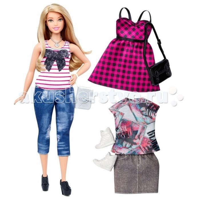 Куклы и одежда для кукол Barbie Кукла Барби в полосатой майке с набором одежды куклы barbie кукла барби fashionistas эволюция барби с набором одежды