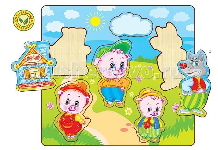 Пазлы Полноцвет Пазлы вставные Три поросёнка 162831