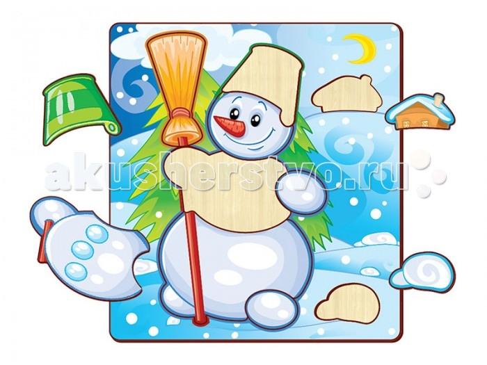 Пазлы Полноцвет Пазлы вставные Снеговик 162800 пазлы бомик пазлы книжка репка