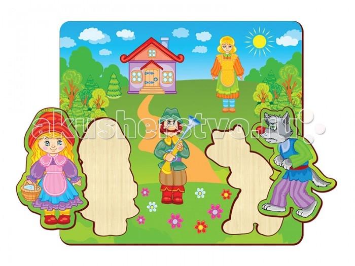 Пазлы Полноцвет Пазлы вставные Красная шапочка 162835 пазлы бомик пазлы книжка репка