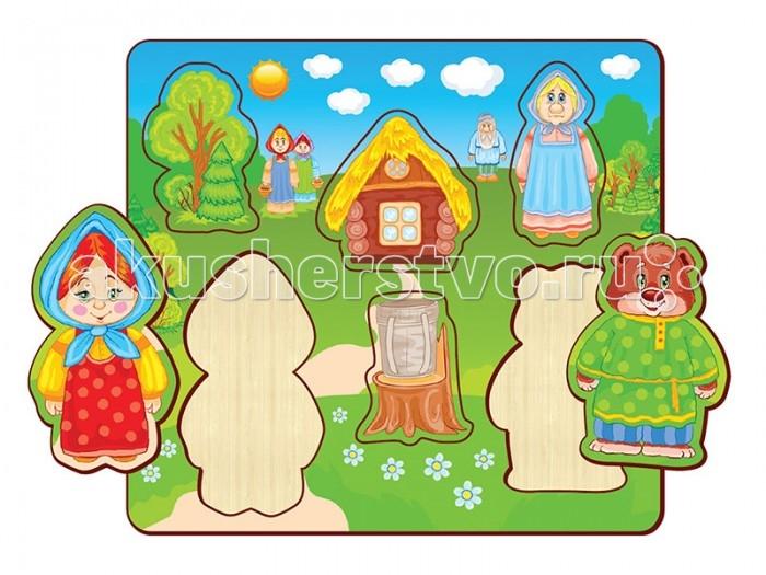 Пазлы Полноцвет Пазлы вставные Маша и Медведь 162834 пазлы бомик пазлы книжка маша и три медведя