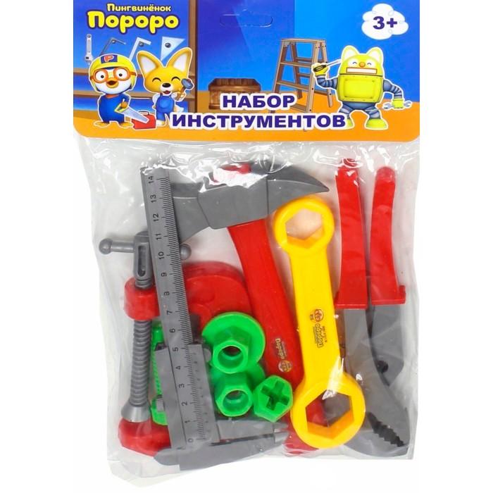 Ролевые игры 1 Toy Набор инструментов Пингвинёнок Пороро (9 предметов) ролевые игры 1 toy чайный сервиз пингвиненок пороро 11 предметов