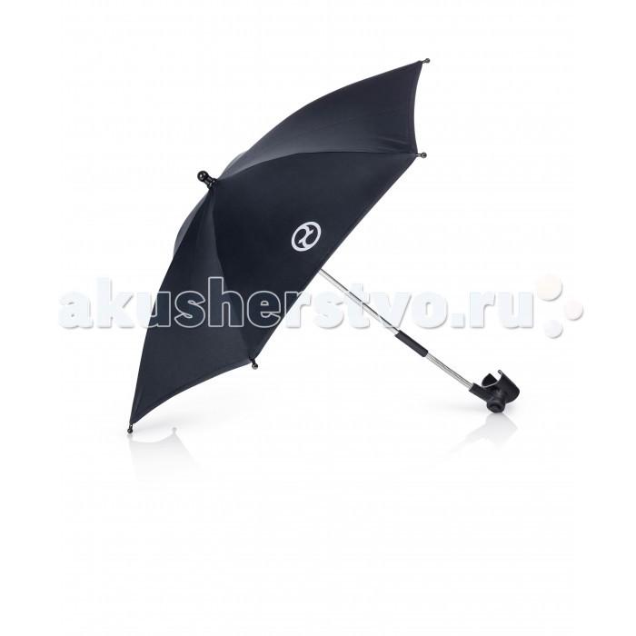 Зонт для коляски Cybex PriamPriamС этим зонтиком прогулка будет еще интереснее! Изготовленный из прочных материалов, зонт надежно защитит от солнца и дождя. Благодаря специальному чехлу зонтик можно бережно хранить тогда, когда он не нужен.  Характеристики: открывается одним нажатием кнопки компактен в сложенном виде оригинальный аксессуар для коляски Priam<br>