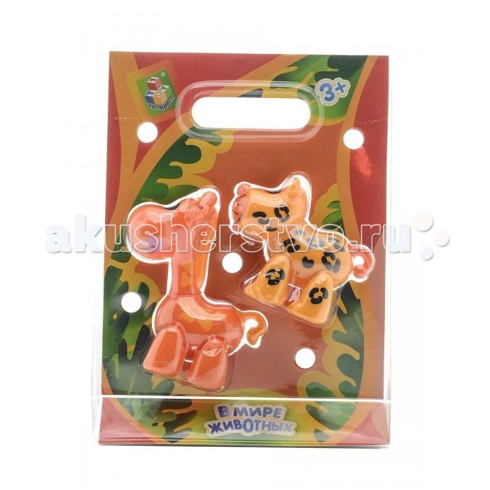 Игровые фигурки 1 Toy Набор фигурок В мире животных Жираф и леопард игровые фигурки prostotoys набор фигурок вовка и царь