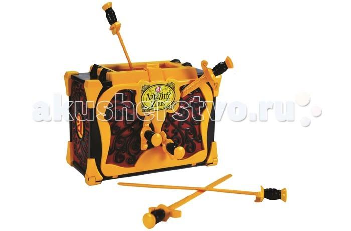Amazing Zhus Набор Ящик для фокуса с мечамиНабор Ящик для фокуса с мечамиЯщик для фокуса с мечами с мышками циркачками поможет показать один из самых популярных и интересных фокусов — исчезновение в волшебном ящике, который будут протыкать острыми шпагами.  Нужно посадить мышку в ящик и она исчезнет. Продемонстрировать это зрителям можно проткнув ящик специальными шпагами в нескольких местах.<br>