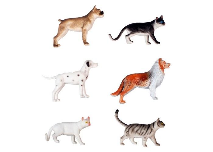 Игровые фигурки 1 Toy Набор фигурок Собаки и кошки 6 шт. игровые фигурки prostotoys набор фигурок вовка и царь